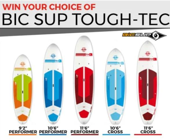 The Paddling BIC 2018 Sweepstakes – Win BIC SUP TOUGH-TEC