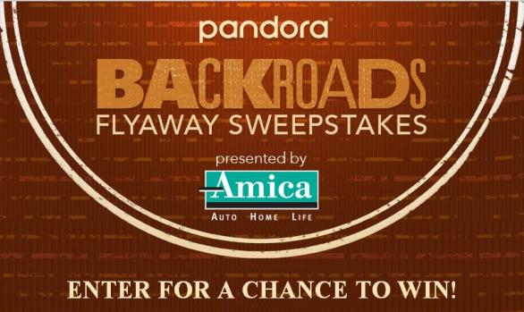 The Pandora Backroads Flyaway Sweepstakes – Win A Trip To Nashville