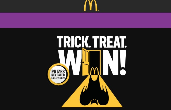 Trick Treat Win Game at McDonald's Sweepstakes - Enter To Win Medium Fries And Buttermilk Crispy Chicken Sandwich