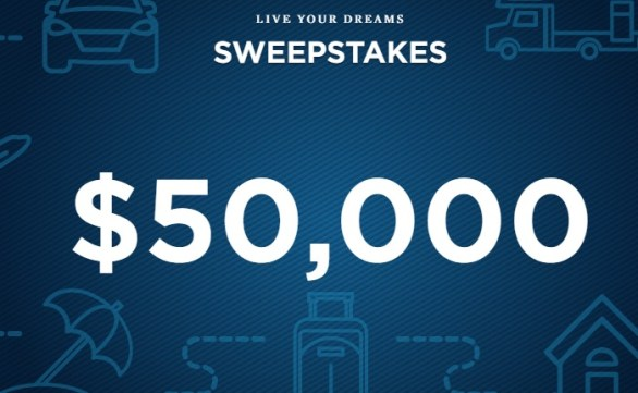 USAA Live Your Dreams Sweepstakes - Chance To Win $5000 Check