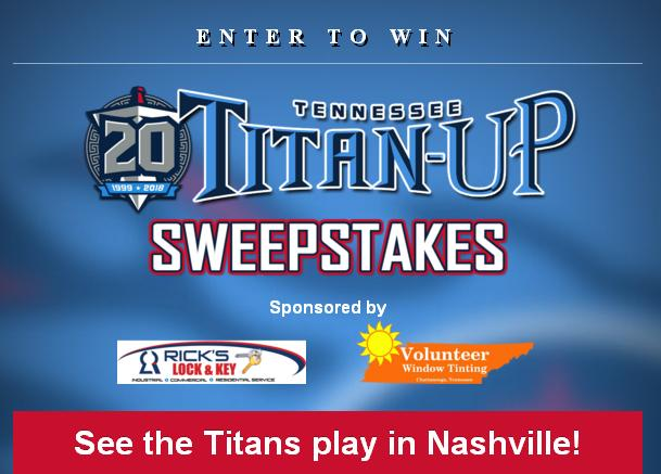 WDEF-TV Titan-Up Sweepstakes – Win Tickets To A Tennessee