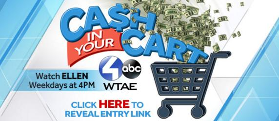 WTAE Ellen Cash in Your Cart Contest Sweepstakes