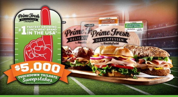 Prime Fresh Tailgate Sweepstakes - Enter To Win $5000 check