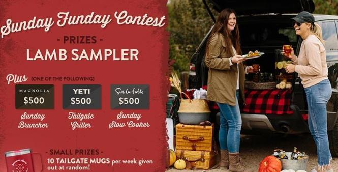 American Lamb Sunday Funday Sweepstakes