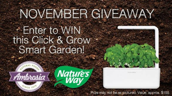 Ambrosia November Giveaway Details - Chance To Win Click And Grow Smart Garden