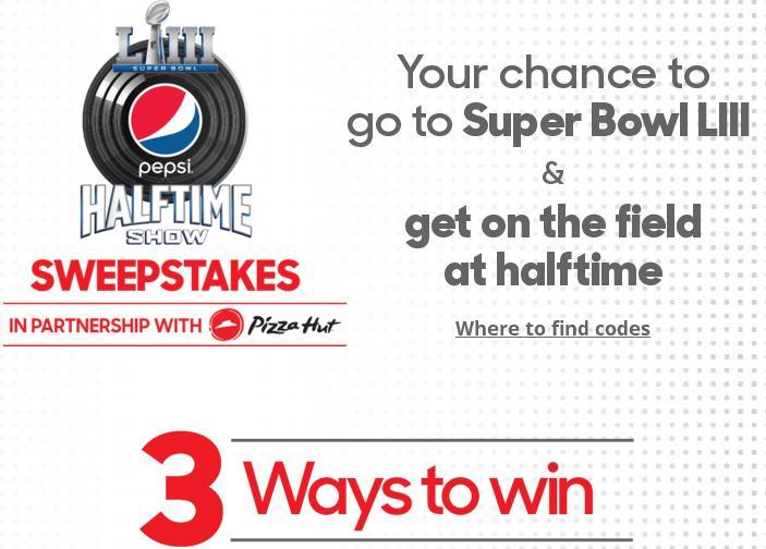 Pepsi Sweepstakes Super Bowl