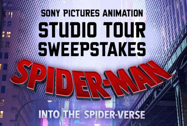 Studio Movie Grill's Spider-Man Into the Spider-Verse Sweepstakes