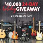 Sweetwater Sound 24-day Holiday Giveaway