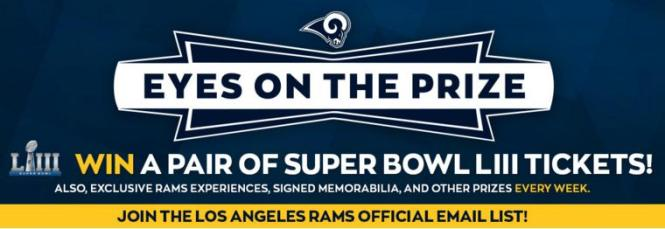 Los Angeles Rams Super Bowl Experience Sweepstakes