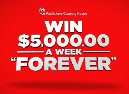 PCH $5,000 A Week Forever Sweepstakes