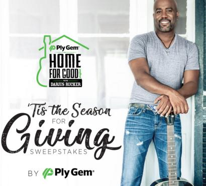 Ply Gem Tis The Season For Giving Sweepstakes
