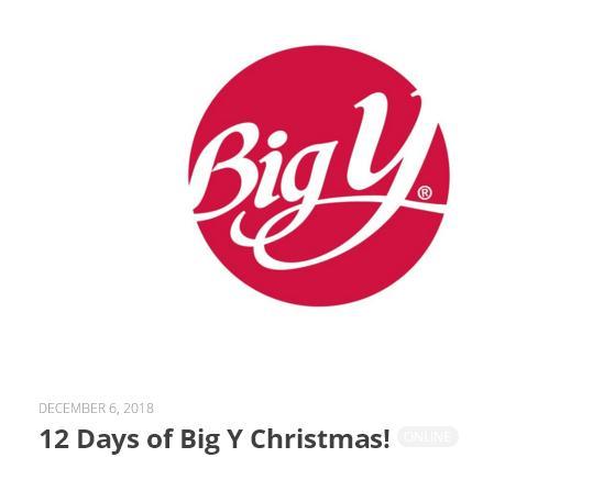 WROR 12 Days Of Big Y Christmas Contest