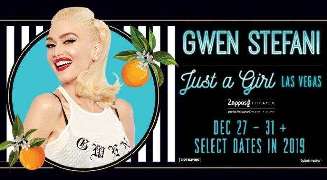 Gwen Stefani Giveaway - Stand To Win Two Tickets Of Just A Girl Concer
