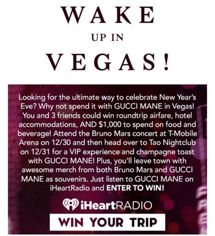 iHeart Radio Wake Up In Vegas Sweepstakes
