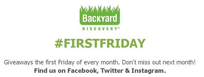 Backyard Discovery First Friday Giveaway