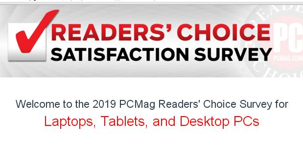 PCMag.com Readers Choice Survey Sweepstakes – Win $350 Gift Card