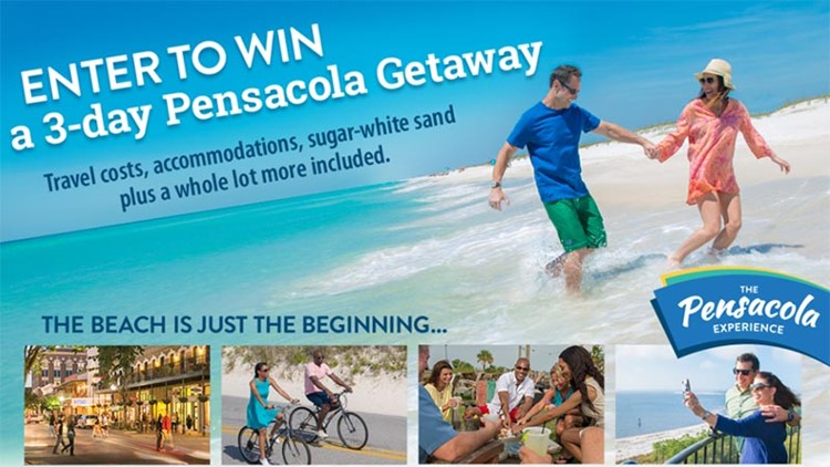 WWL-TV The Pensacola Experience Sweepstakes - Win a 3-Day Pensacola