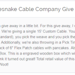 Rattlesnake Cable Company Giveaway - Stand To Win A Deluxe Gift Box