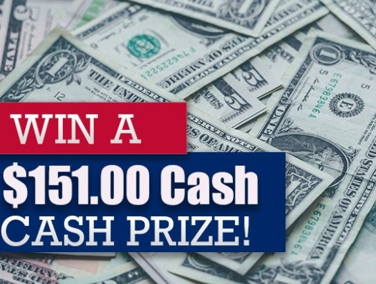 $151 In Free Cash Sweepstakes - Enter To Win $151 Cash