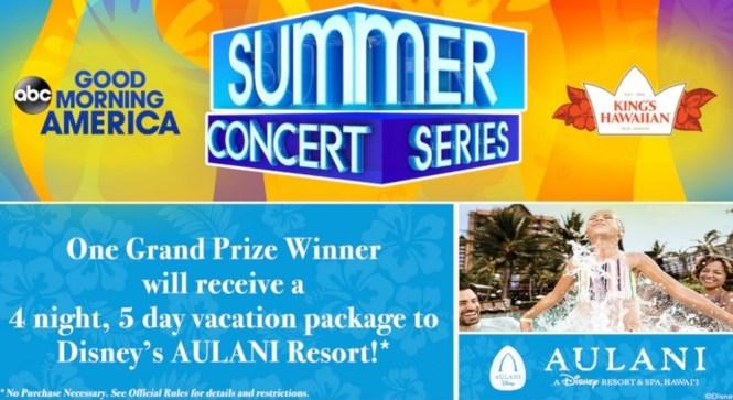GoodMorningAmerica com Summer Concert Series Sweepstakes