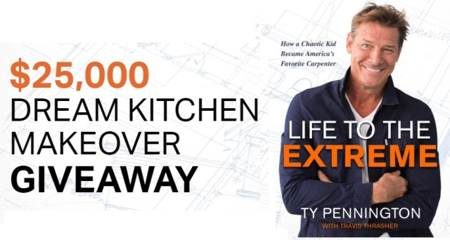 Ty Pennington Kitchen Makeover Sweepstakes - Win $25000 Check
