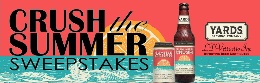 Yards Brewing Crush the Summer Sweepstakes - Chance To Win A Trip To