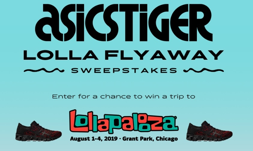 Asicstiger Lolla Flyaway Sweepstakes - Enter To Win Rock