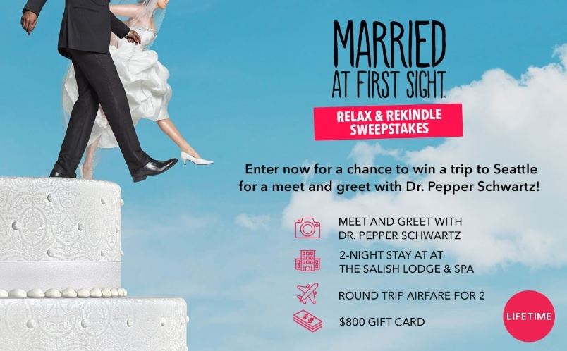 Married At First Sight Relax And Rekindle Sweepstakes – Win Trip