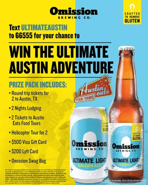 OMission Ultimate Austin Sweepstakes - Enter To Win Trip