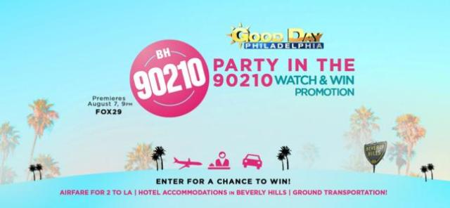 WTXF Fox 29 Party In The 90210 Sweepstakes - Win Trip To Beverly