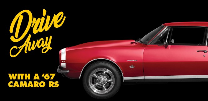 Advance Auto Parts Camaro Sweepstakes - Stand To Win A 1967 Chevrolet Camaro RS