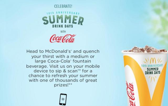 Coca-Cola And McDonalds Summer Drink Days Sweepstakes - Win Spotify