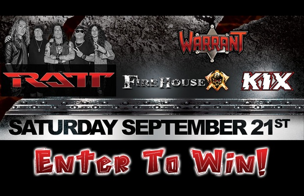 I 100 Rocks Rockin with RATT Sweepstakes - Enter To Win A Pair Of Tickets