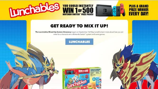 Lunchables Mixed-Up Gamers Giveaway - Win Nintendo Switch