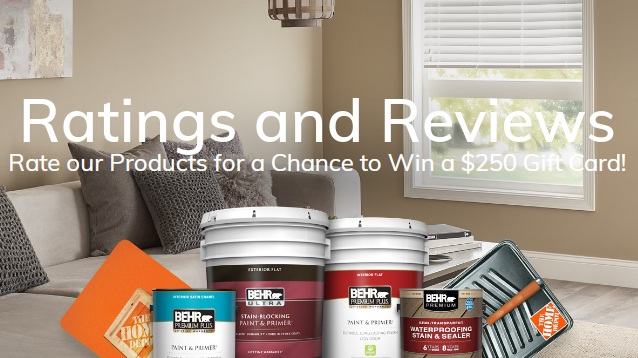 Behr Paint Company Behr Rate And Win Sweepstakes