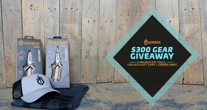 ACK X Gerber $300 Gear Giveaway