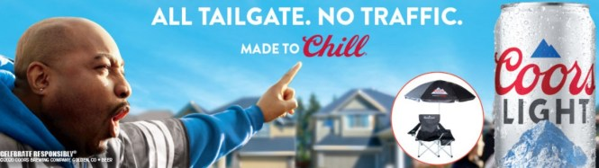 Molson Coors Beverage Company USA Coors Light Football Chair Homegate Sweepstakes