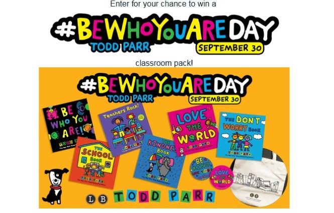 Todd Par Be Who You Are Day Sweepstakes