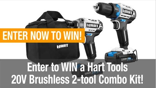 Hart 20V Brushless Drill And Impact Combo Kit Giveaway
