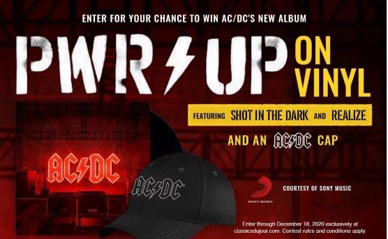 Classics Du Jour AC DC Power Up On Vinyl Contest