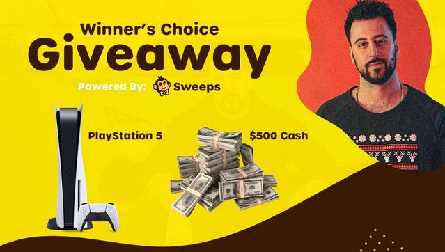 PlayStation 5 Or $500 Cash Giveaway