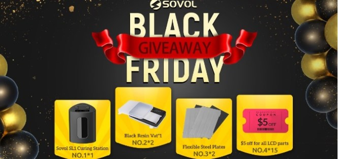 Sovol Black Friday Giveaway - Enter For Chance To Win Sovol SL1 Curing Station