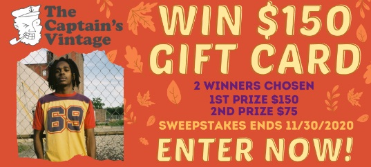 The Captain Vintage Gift Card Giveaway
