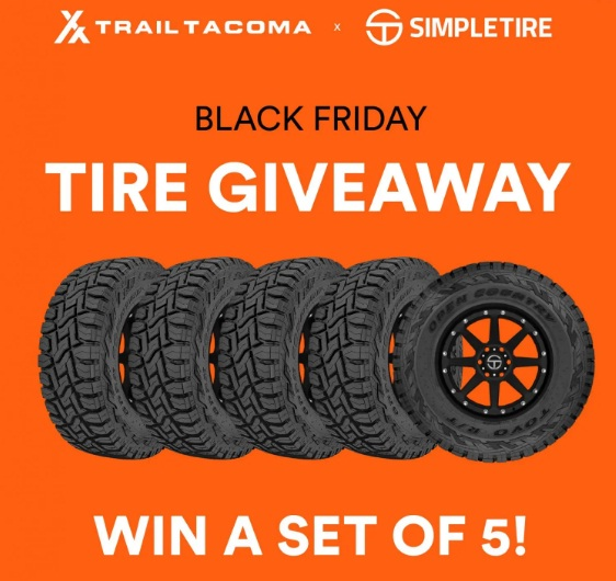 TrailTacoma.com And SimpleTire.com Simple Tire Black Friday Giveaway
