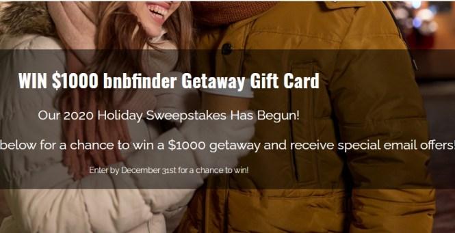 BnbFinder, $1,000 Credit Monthly Giveaway