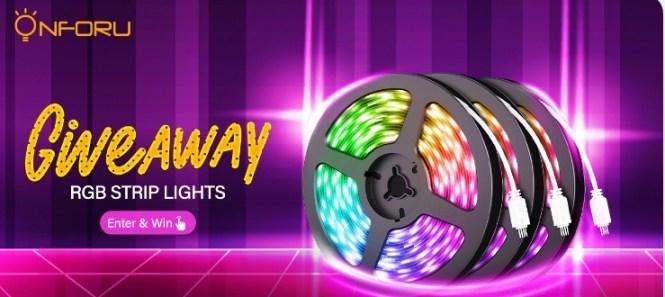 Onforu RGB Strip Lights Giveaway