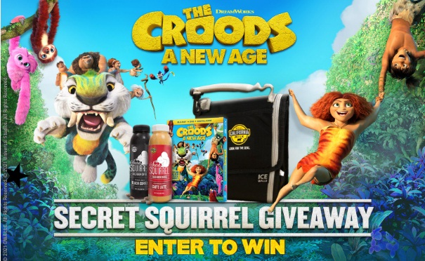 Squirrel Brew And The Croods Secret Squirrel Giveaway
