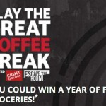 Great Coffee Break Sweepstakes – Win A Year  Free Groceries