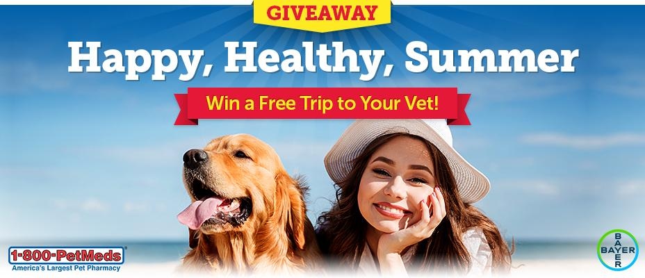 1-800-PetMeds Happy, Healthy, Summer Sweepstakes