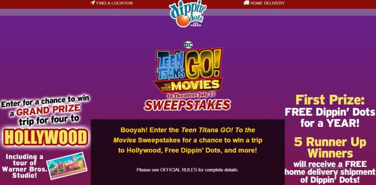 Instant win cash sweepstakes 2018 movie
